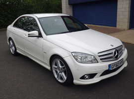 Mercedes C220, 2010 (60) White Saloon, Automatic Diesel, 129,000 miles