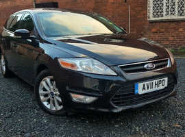 Ford Mondeo, 2011 (11) Black Estate, Manual Diesel, 81,000 miles