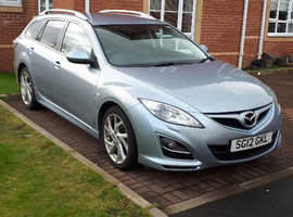 Mazda MAZDA 6, 2012 (12) Blue Estate, Manual Diesel, 71,000 miles