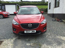Mazda CX-5, 2017 (17) Red Estate, Automatic Diesel, 23,000 miles