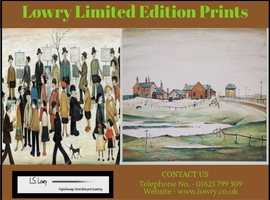 Excellent Lowry Limited Edition Prints for Sale