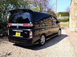 Nissan Elgrand, 2020 (69) black mpv, Manual Petrol, 61365 miles