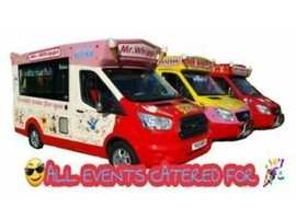 ICE CREAM VANS AVAILABLE FOR ALL OCCASSIONS MR WHIPPY EVENTS HIRE