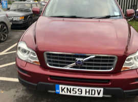 Volvo Xc90, 2010 (59) Red Estate, Automatic Diesel, 49,500 miles