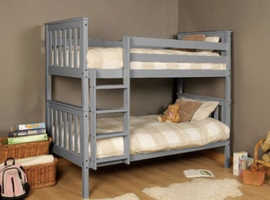 Solid Wooden Pine Single Bunk Bed