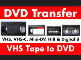 Vhs/Vhs-C/Hi8/H8/Mini dv to DVD or Hard drive