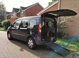 RENAULT KANGOO EXTREME 6 - WHEELCHAIR ASSISTED DISABLED FIVE DOOR, HATCHBACK GENUINE LOW 49506 MILEAGE BLACK AS NEW CONDITION INSIDE AND OUT