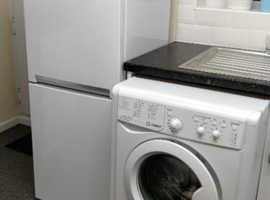New Fridge/freezer Beko + Washing Machine Indesit ECO 7Kg