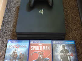 Ps4 pro 1tb with 3 games