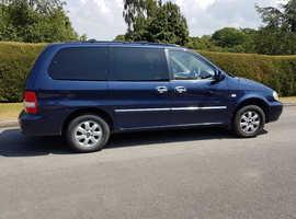 Kia Sedona LX, 2006 (06) Blue MPV, Manual Diesel, 126,000 miles