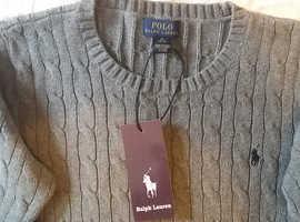 """Ralph Lauren"" kid's knitwear jumper. Brand new, still with original tag."