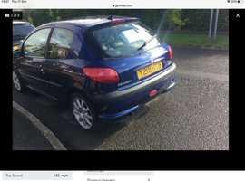 Peugeot 206, 2001 (Y) Blue Hatchback, Manual Petrol, 109,000 miles