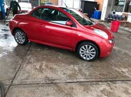 Nissan Micra, 2008 (08) red convertible, Manual Petrol, 98,000 miles