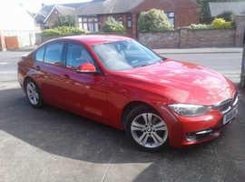 BMW 3 Series, 2015 (15) Red Saloon, Manual Diesel, 134,000 miles