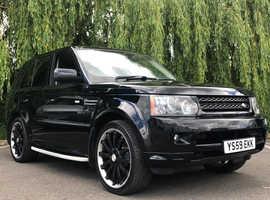 Land Rover Range Rover Sport, 2009 (59) Black Estate, Automatic Diesel, 112,700 miles