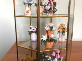 Beautiful Porcelain Miniature Flowers of the year Collection