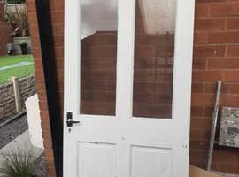 Solid exterior wooden door