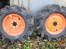 Kubota B series Compact Tractor Wheels with Agricultural Tyres.