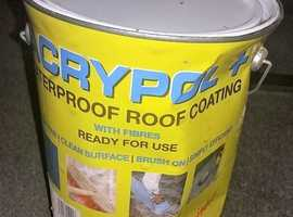 Acrypol Roof Repair  5Kg tin unopened but tin dented . Mend your roof ready for winter