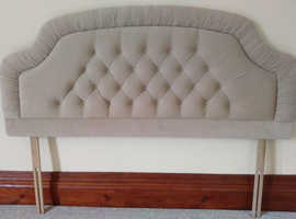 SuperFive Feet wide velour headboard as new would suit double or kingsize bed