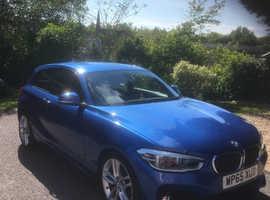 BMW 1 series, 2015 (65) Blue Hatchback, Manual Diesel, 32,500 miles