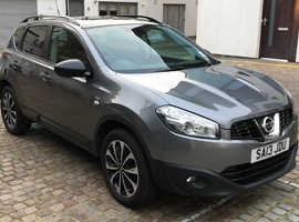 Nissan Qashqai, 2013 (13) Grey Hatchback, Cvt Petrol, 62,000 miles