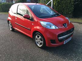 Peugeot 107  VERVE 1.0  2009 (59) Red Hatchback, Manual Petrol, 98,000 miles HPI CLEAR