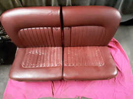 DAIMLER JAGUAR MK2 V8 COMPLETE RED LEATHER INTERIOR