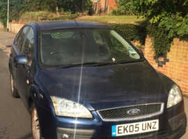 Ford Focus, 2005 (05) Blue Hatchback, Manual Diesel, 129,000 miles