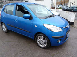 Hyundai i10, 2009 (09) Blue Hatchback, Manual Petrol, 83,000 miles