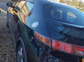 Honda Civic, 2007 (57) Black Hatchback, Manual Diesel, 163,000 miles