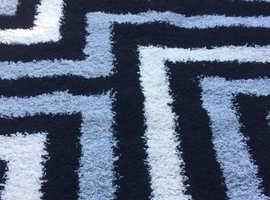 200x230cm black and white zebra rug for sale