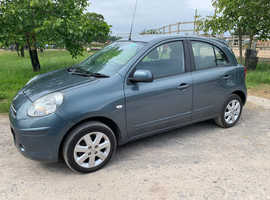Exceptionally low mileage Nissan Micra, 2013 (13) Grey Hatchback, Manual Petrol, 13,800 miles Air Con