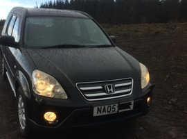 Honda CR-V, 2005 (05) Black Estate, Manual Diesel, 122,650 miles