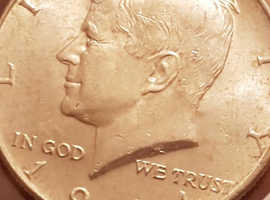14x .925 sterling silver 1964 half dollar in very fine condition
