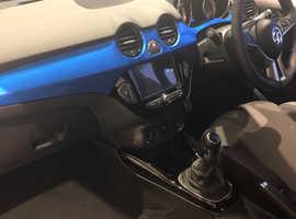 Vauxhall Adam, 2018 (68) Blue Hatchback, Manual Petrol, 7,500 miles