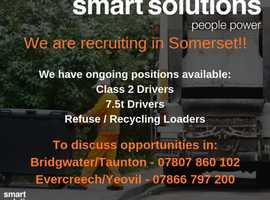 We are Recruiting - HGV Drivers/ Refuse and Recycling Loaders