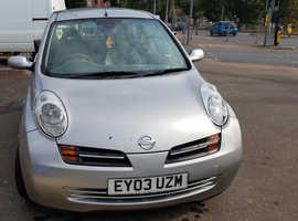 Nissan Micra, 2003 (03) Silver Hatchback, Automatic Petrol, 65,073 miles