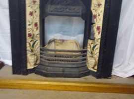 Art nouveau style cast iron fire surround