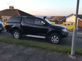 Mitsubishi L200, 2009 (09) black estate, Manual Diesel, 180,000 miles