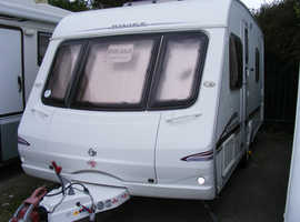 2005 Swift Charisma 535, fixed bed, motor mover, awning, one owner 4 berth caravan