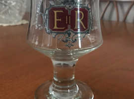 Queen Elizabeth II Silver Jubilee goblet
