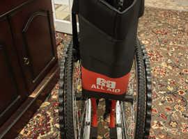 Red lightweight wheelchair