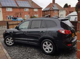 Hyundai Santa Fe, 2008 (08) Black Estate, Manual Diesel, 140,000 miles