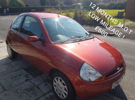Ford Ka, 2007 (07) Red Hatchback, Manual Petrol, 45,371 miles