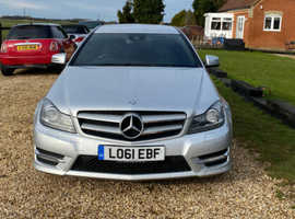 Mercedes C CLASS, 2011 (61) Silver Coupe, Automatic Diesel, 86,384 miles
