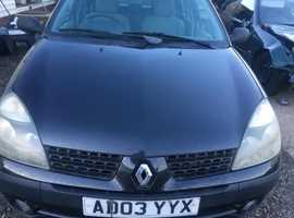Renault Clio, 2003 (03) Black Hatchback, Manual Diesel, 102,797 miles