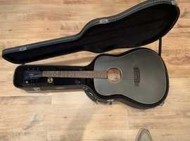 Hudson acoustic guitar and case