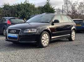 Audi A3, 2009 (58) Black Hatchback, Manual Petrol, 94,000 miles