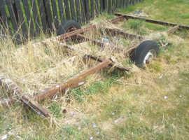 caravan frame for scrap